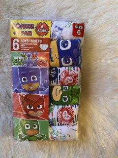 ボーナスパック☆6☆パジャマスク pjmasks ブリーフ☆6枚セット