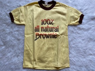 10-12 100% all natural Brownie 古着 リンガーTシャツ