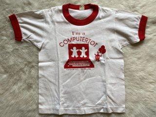 10-12 I'm a computertot古着 リンガーTシャツ