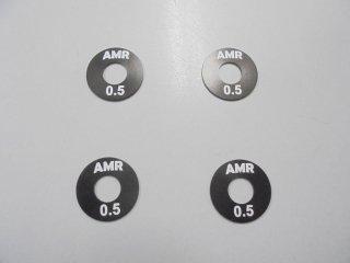 AMR-013-0.5 5mm穴12HEXホイールスペーサー(0.5mm/4枚)
