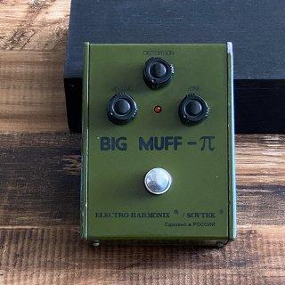 [ヴィンテージ]Electro-Harmonix Sovtek / 1990s Big Muff Pi Army Green Bubble Font