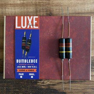 [新品]Luxe / 1956-1960 Matched Pair of Luxe Oil-Filled .022mF Bumblebee Capacitors