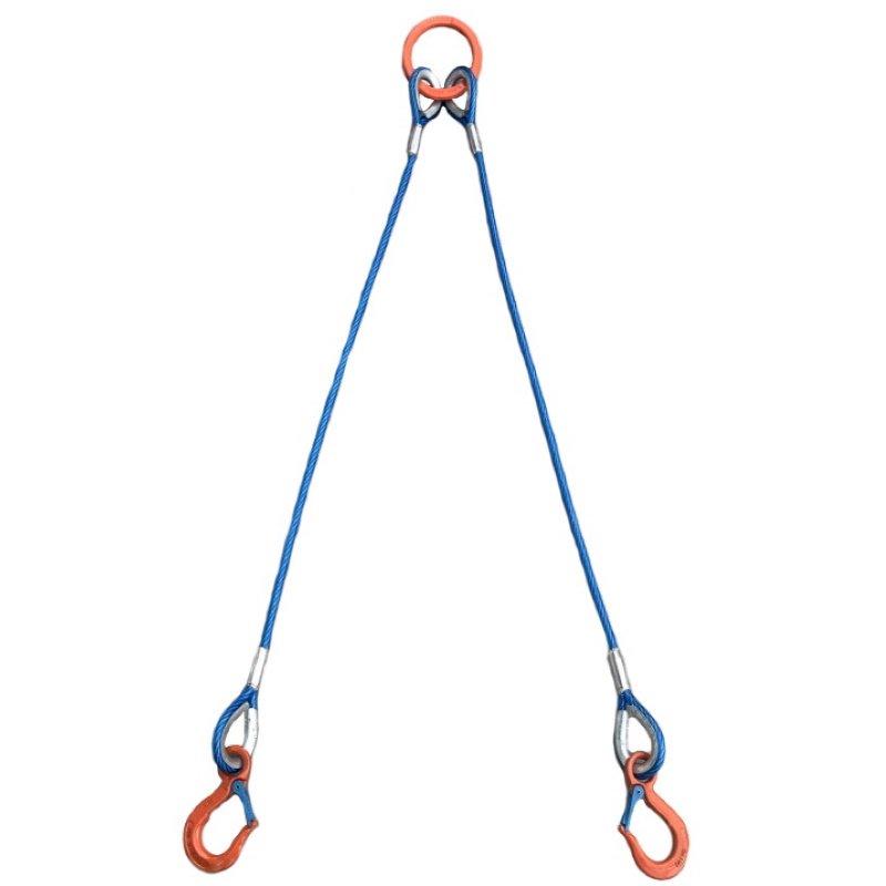 2点吊 カラーワイヤ 使用荷重 1.0t