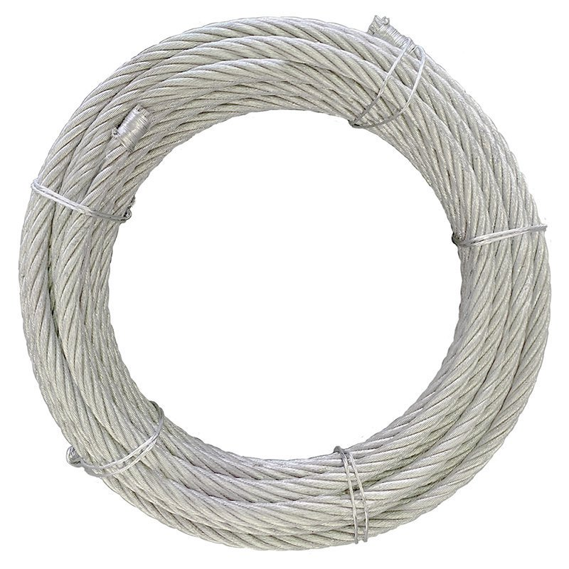 ワイヤロープ 海外製 6×24 G/O カット 径9mm 長さ1m