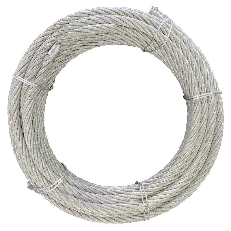 ワイヤロープ 海外製 6×37 G/O カット 径8mm 長さ1m