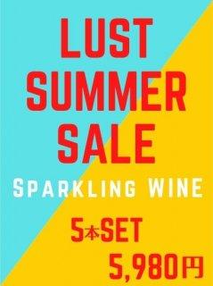 LAST SUMMER SALE<br>スパークリングワイン<br>5本SET 送料無料