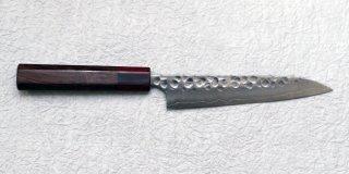 加藤義実 鎚目ペティ150mm(赤口輪) Yoshimi Kato hammered petty with honduras handle 24,200 JPY