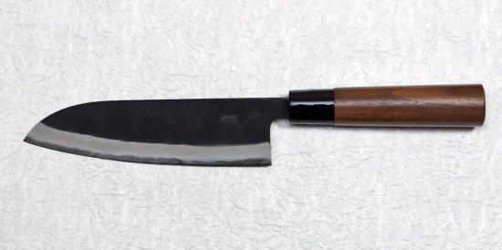 山本直 黒打ち三徳170mm Nao Yamamoto kurouchi santoku with walnut handle 18,700 JPY