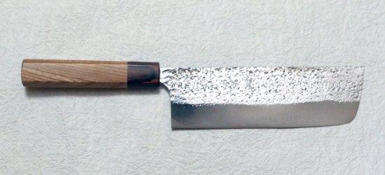 黒�優 雫 菜切り180mm Yu Kurosaki Shizuku Nakiri with keyaki handle 27,500 JPY