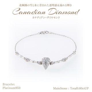 ◆カナディアンダイヤモンド◆<br>ブレスレット 計0.60ctUP [PT950][型番:6589580000]