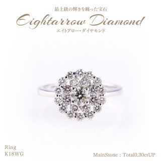 ◆エイトアローダイヤモンド◆リング 計1.00ctUP [18KWG][型番:6046399900]