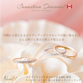 【New!】カナディアンダイヤモンド計0.30ct エタニティリング [WG/YG/RG][型番:sp2et03]