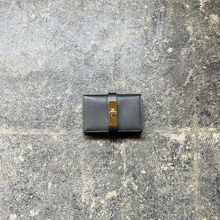 カードケース ブラック×ゴールド金具
