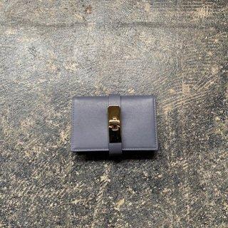 カードケース グレー×金具ゴールド