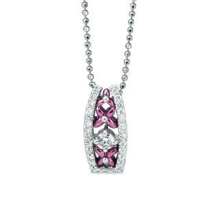 日本初 紫色の18金 プラチナ・K18パープルゴールドダイヤモンドペンダントネックレス