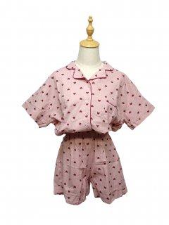 韓国ハート柄パジャマ♪