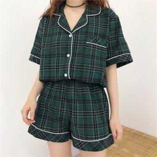 韓国スタイルチェックパジャマ♪