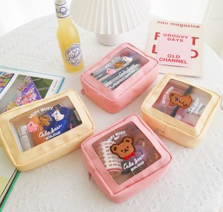 【milkjoy】クマさんの可愛いメッシュポーチ(全4種)