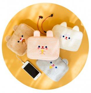 【milkjoy】めちゃかわ♪ケーブルが通せちゃう便利なポーチ(全4色)