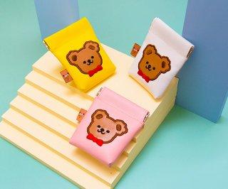 【milkjoy】可愛いクマさんのAirpodsケース♪イヤホンケースにも(全3色)