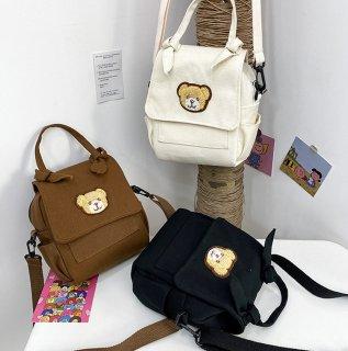 クマさんのハンドバッグスタイルなショルダーバッグ(全3色)
