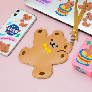 【milkjoy】可愛いクマさんのパスケース♪ICカード・定期を入れて通勤・通学に(全2種類)