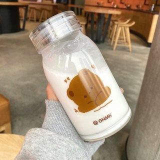 インスタ映えに♪クマさんの可愛いフタつき耐熱ガラス瓶(全2種)