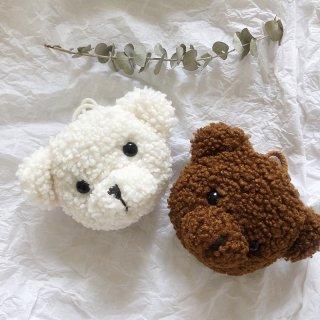 モフモフなクマさんのぬいぐるみショルダーミニポーチ(全2色)
