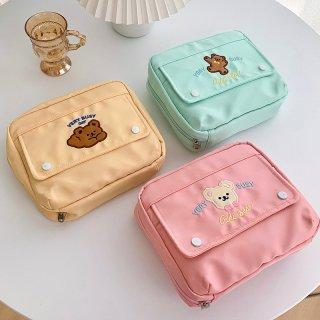 【milkjoy】使い方色々♪たっぷり収納できるパステルカラーな手帳ポーチ(全3色)