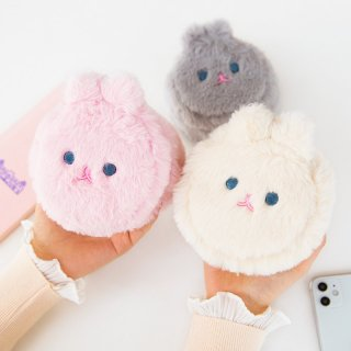 【milkjoy】もふもふなウサギさんのジュエリーポーチ(全3色)