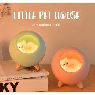 小さな猫さんの癒されランプ♪(全3色)