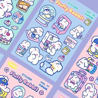 【milkjoy】うさぎさんの可愛いキャラクターシール♪(全4種)