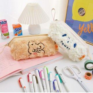 【milkjoy】芯入りでしっかり開く♡大きなもふもふポーチ(全2色)