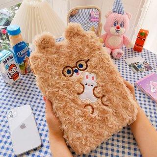 【milkjoy】もふもふキャラクターの可愛いiPadケース♪グッズ・小物入れにも(全3色)