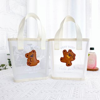 【milkjoy】くまさんのALLメッシュミニトートバッグ(全2種)