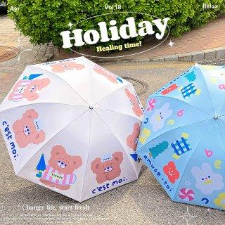 【milkjoy】クマさん・うさぎさんの折りたたみ日傘♪晴天・雨天両用!(全4種)