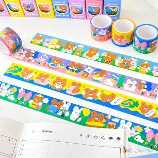 【milkjoy】クマさん・うさぎさんの和紙製デコレーションテープ♪(全4種)