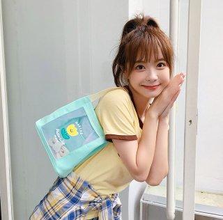 【訳ありアウトレット品】パステルカラーが可愛いメッシュミニトートバッグ(400円引き)