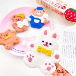 【milkjoy】クマさん・うさぎさんの可愛い立体樹脂製冷蔵庫マグネット(全4種)