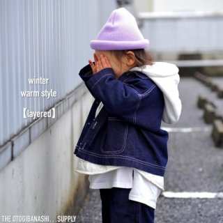 【original】ただようピンクのdenim jkt - kids
