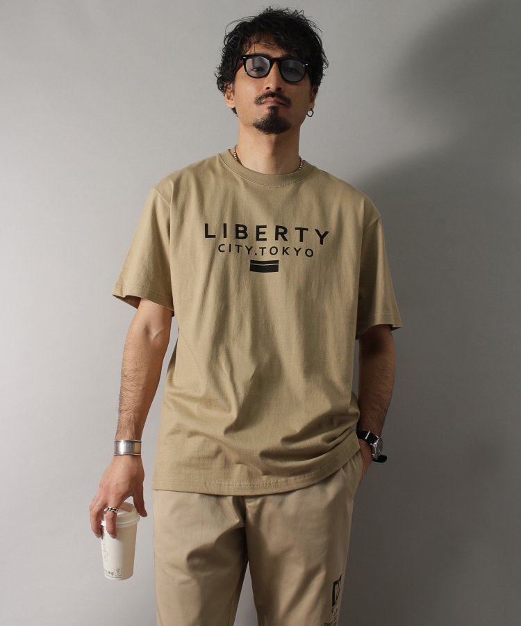 【LIBERTY CITY/リバティーシティ】 [LIBERTY CITY TOKYO] Tシャツ <ホワイト・ブラック・ベージュ><img class='new_mark_img2' src='https://img.shop-pro.jp/img/new/icons8.gif' style='border:none;display:inline;margin:0px;padding:0px;width:auto;' />