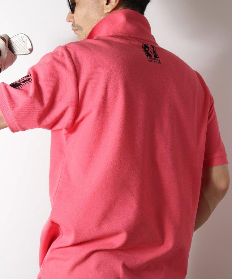 【LIBERTY CITY & TURF】 [TEAM LC&T] ドライポロシャツ <ブルー・ピンク>