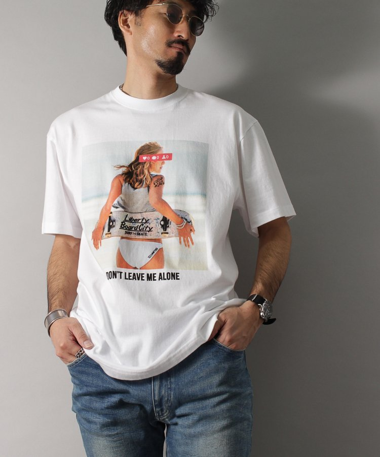 【LIBERTY CITY/リバティーシティ】 [ALONE] Tシャツ<img class='new_mark_img2' src='https://img.shop-pro.jp/img/new/icons8.gif' style='border:none;display:inline;margin:0px;padding:0px;width:auto;' />
