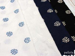 60ローン サークルフラワー刺繍|生地 布 コットン100% 刺しゅう 薄手コットン