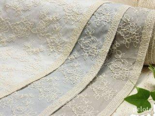 コットンローン ローズ刺繍|生地 布 レース生地 バラ柄 花柄 刺しゅう ハンドメイド 綿100% 日本製