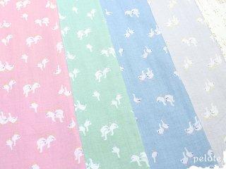 抗菌防臭加工 あひるさんダブルガーゼ|生地 布 日本製 Wガーゼ ベビーグッズ 赤ちゃん 布マスク ハンドメイド 綿100%