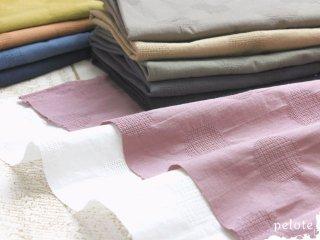 コットンリネン ドットジャガード【小】3cmドット|生地 布 薄手 綿麻 水玉 透け感 春夏洋服