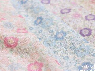 ダブルガーゼ 生地 小花プリント「ima DOKI」|生地 布 布マスク フラワープリント ベビーグッズ ハンドメイド 花柄 おしゃれ 綿100% 日本製