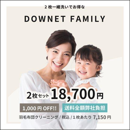 ダウネットFAMILY(2枚一緒洗い1,000円割引)