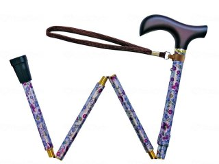 夢ライフステッキ柄杖折りたたみ伸縮型